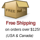 Free FedEx Shipping on orders over $125! (USA & Canada)