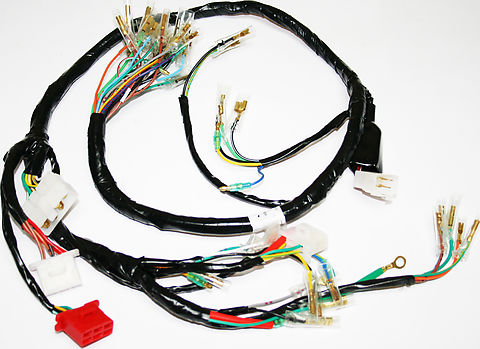 wiring harnesses and charging system parts electrical products rh vintagecb750 com Wiring Harness Diagram Trailer Wiring Harness