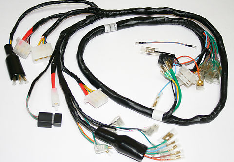wiring harnesses and charging system parts electrical products rh vintagecb750 com Truck Wiring Harness Wiring Harness Terminals and Connectors